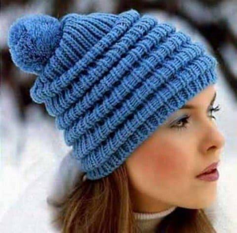 шапка волна