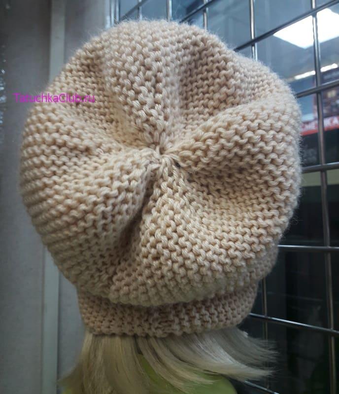 Макушка шапки бини