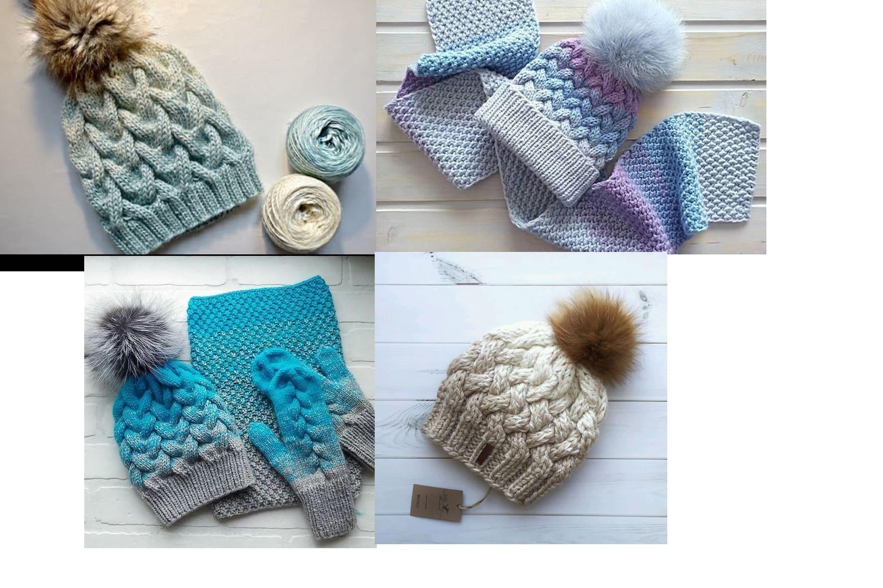 Модная шапка на зиму