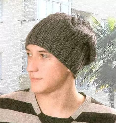 Мужская шапка бини