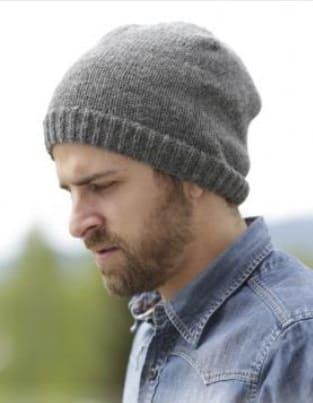 Мужская шапка для начинающих