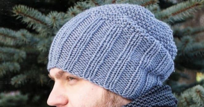 Простая мужская шапка бини