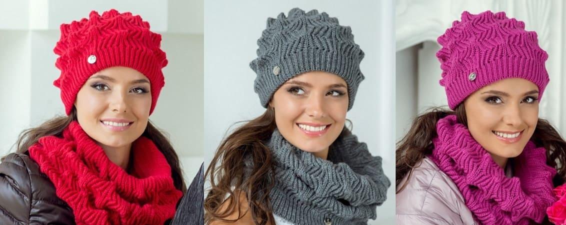 Вязание шапки Элиза