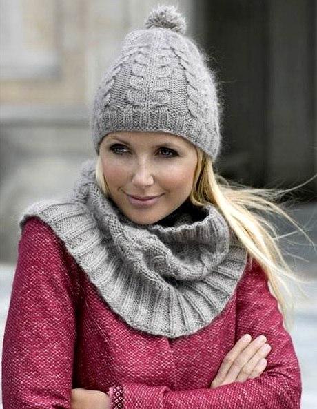 Женские шапки со схемами