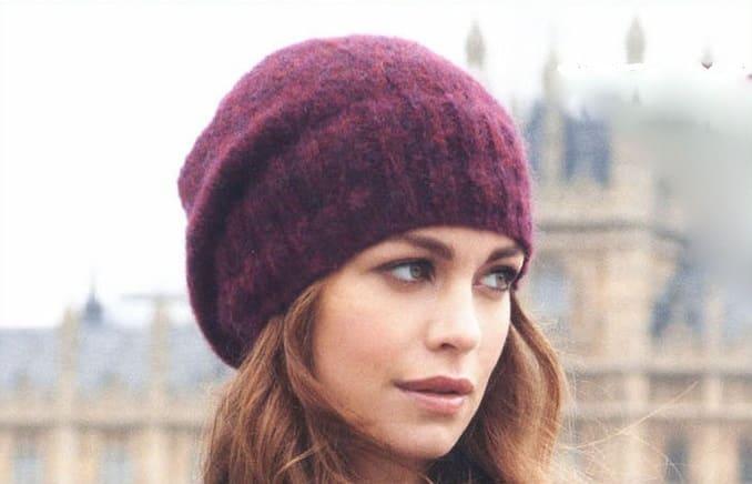 шапка бини лицевой гладью спицами 5 моделей с подробным описанием