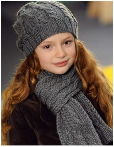 Шапка бини для девочки от 2 до 14 лет