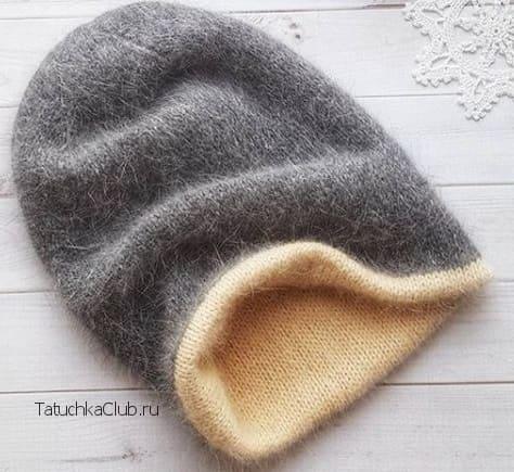 Двойная шапка бини