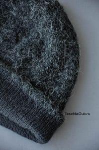 Двуслойная шапка спицами