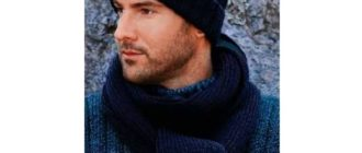Мужская шапка резинкой 2х2