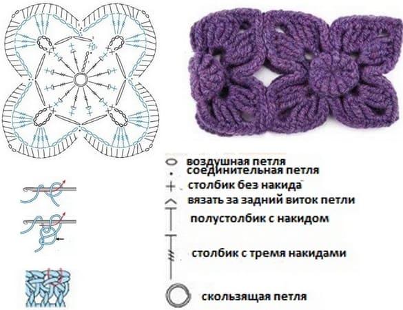 Схема полоски с крючком