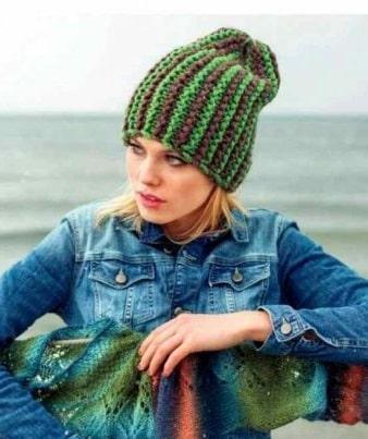 Платочная вязка для шапки
