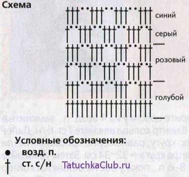 Схема полоски крючком