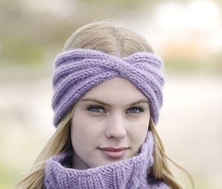 вязаная повязка на голову спицами подборка схем вязания