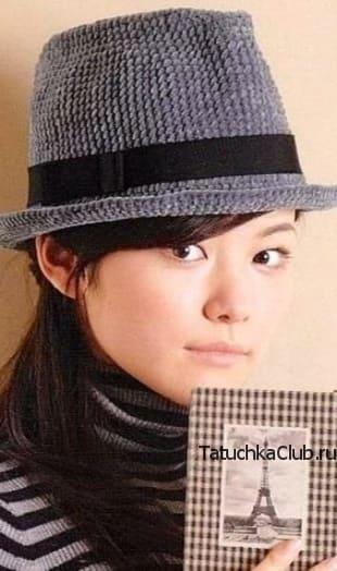 Шляпа Федора крючком