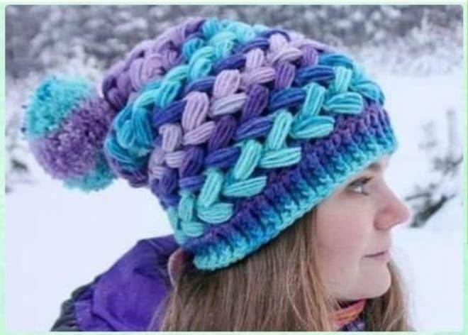 Вязаная шапка на зиму крючком