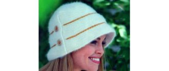 Вязаная шляпка для женщин