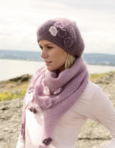 Вязание спицами шапки платочной вязкой
