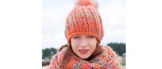 Зимняя женская шапочка крючком