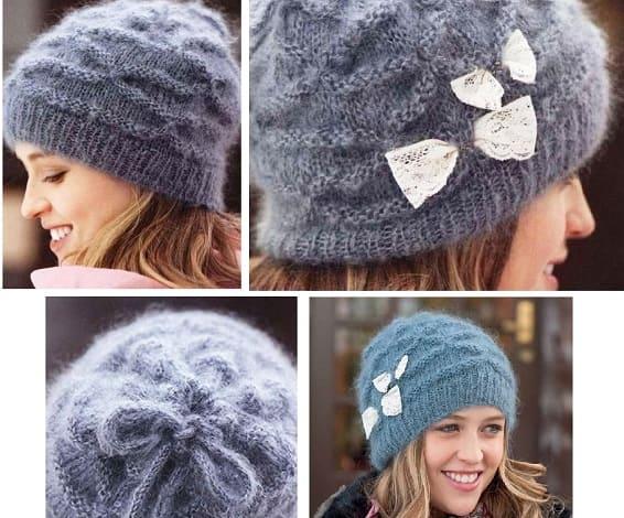 Как связать зимнюю шапку