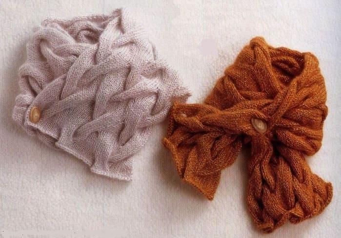 Короткий шарфик из кос
