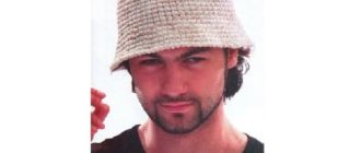 Мужская шляпка крючком
