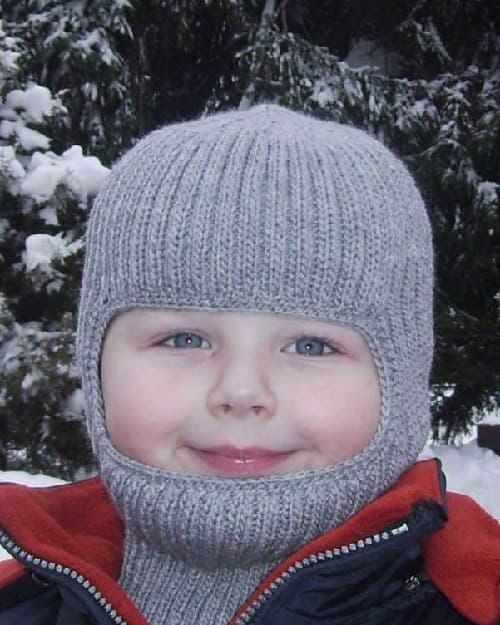Шлем для ребенка спицами
