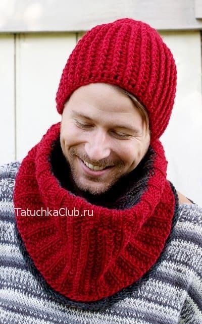Вязание мужской шапки крючком
