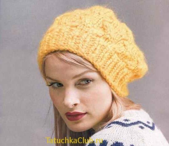 Женская шапка на зиму