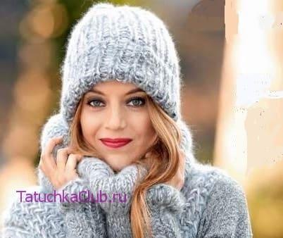 Зимняя шапка для женщины
