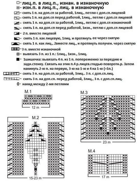 Схема вязания палантина Шиповник
