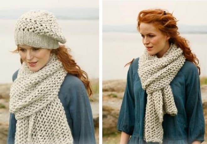 Легкий шарф сетка