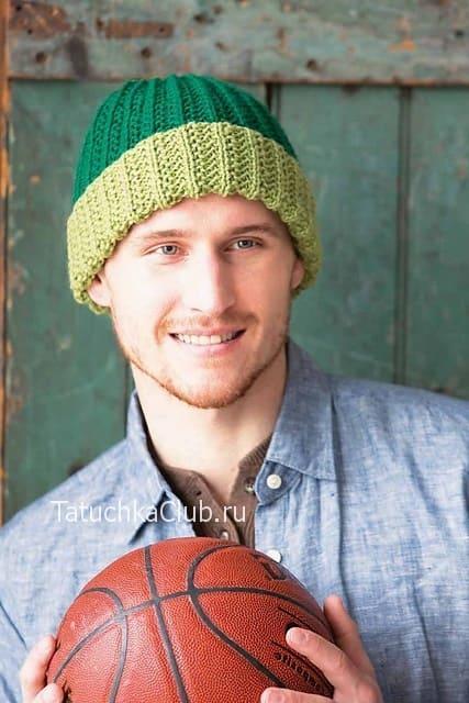 Мужская шапка патентной резинкой