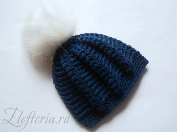 Описание вязания шапки с косами крючком