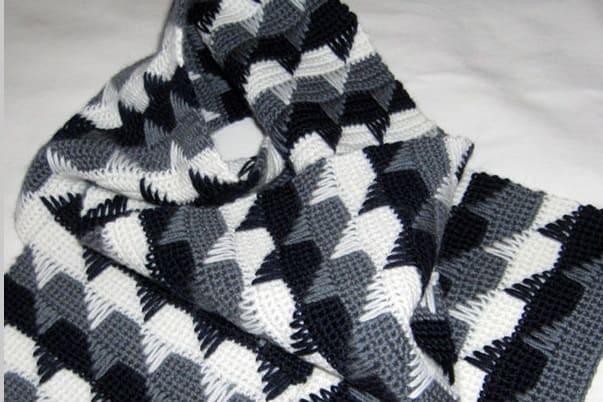 Узор для шарфика крючком