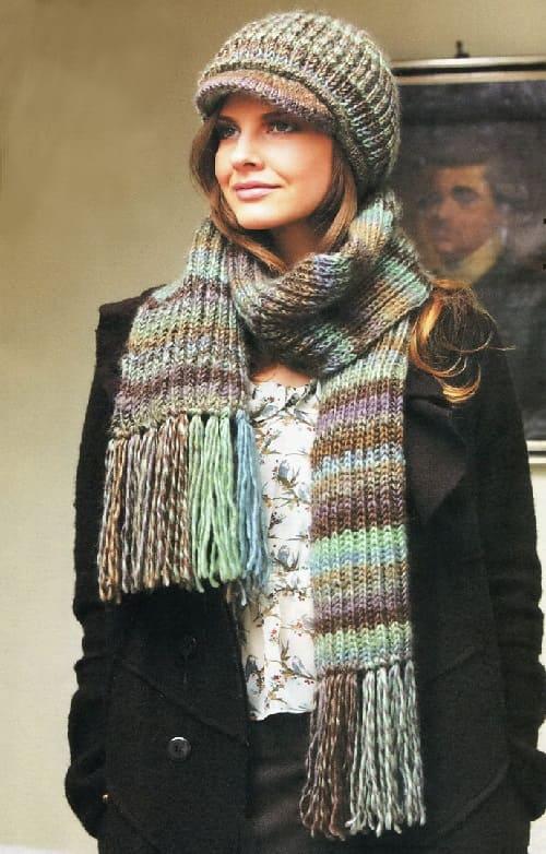 Вязаный шарф для начинающих