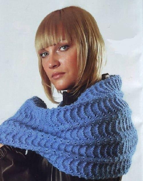 Плотный узор для шарфа