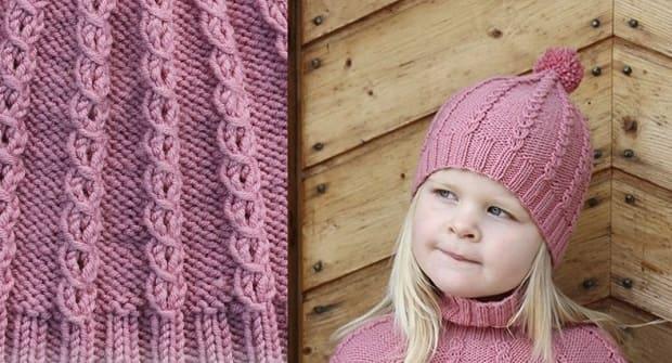 Простой узор для детской шапочки на весну