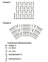 Схема цветка для беретика