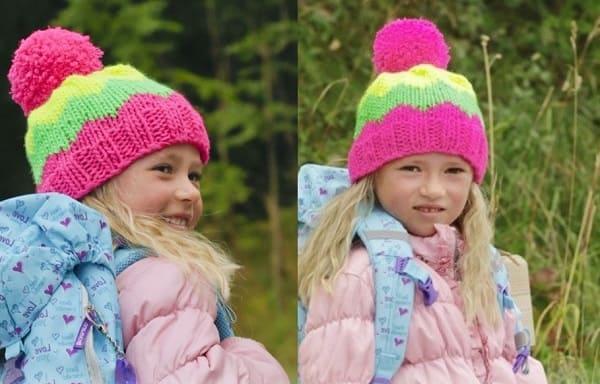 Яркая весенняя шапка для детей