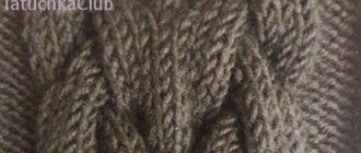 Королевская коса спицами