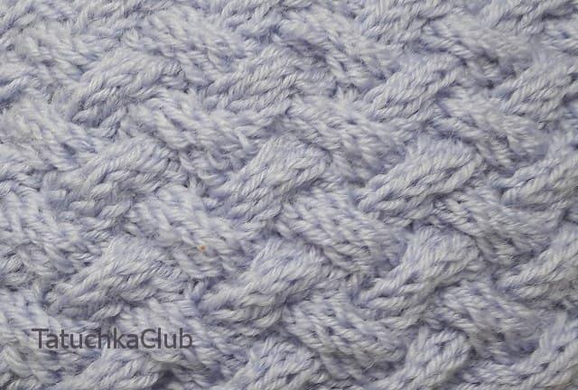 Рисунок плетенка спицами