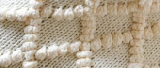 Вязание шишечек на спицах