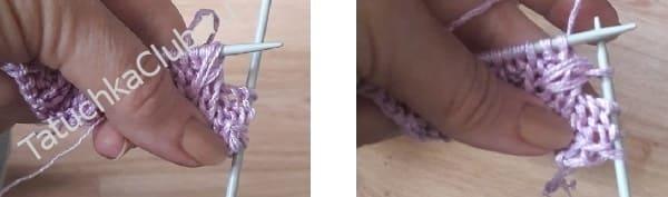 Как вязать узор нежные бутоны