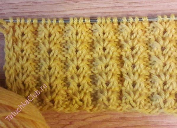 Вязание на спицах Гусиных лапок