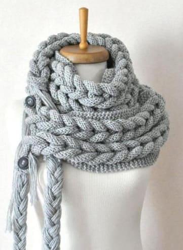 Интересный необычный шарф накидка