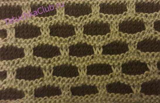 Рисунок двухцветные крупные ячейки