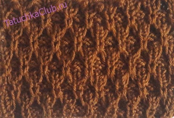 Вязание на спицах Ячейки