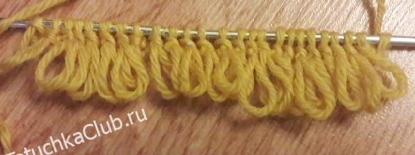 Вязание меха спицами МК