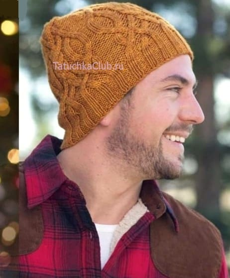Мужская шапка с аранами
