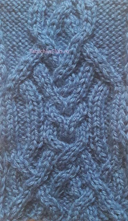 Арановый узор для мужской шапки